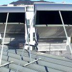 ドローンを使用しての屋上現状調査